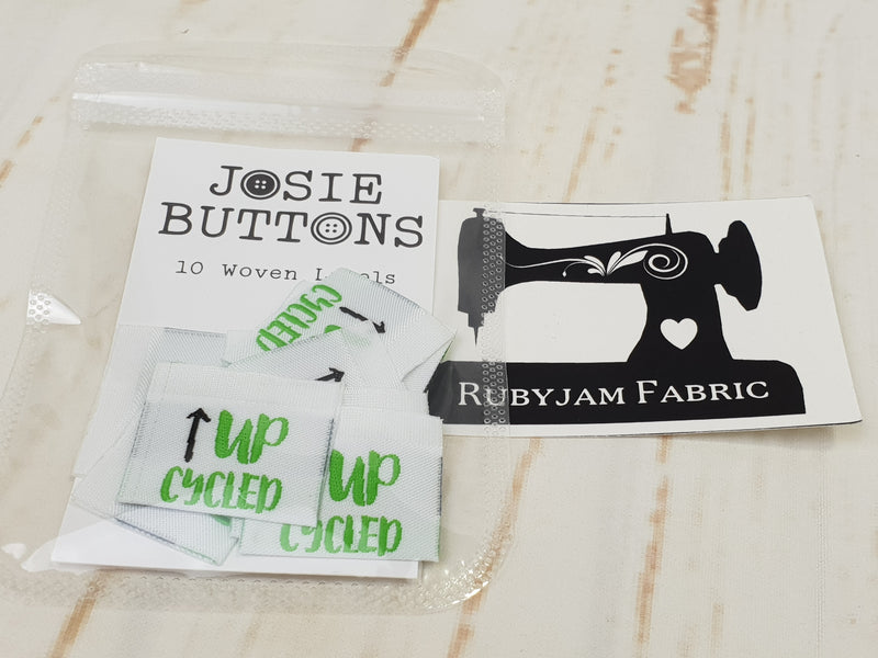 Upcycled - Labels by Josie Buttons
