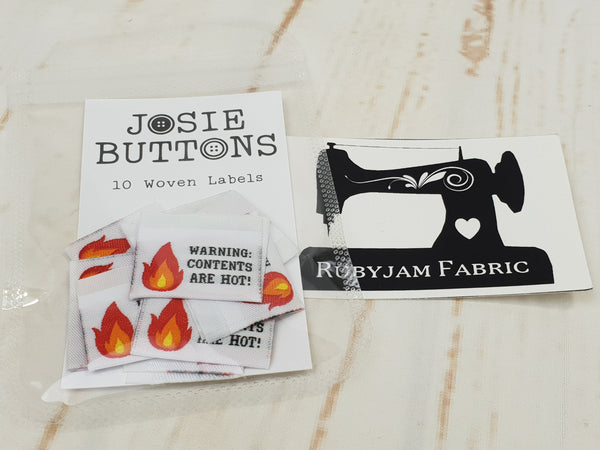 Warning Contents Are Hot - Labels by Josie Buttons