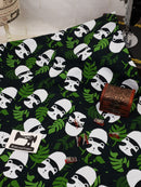 Panda - cotton lycra - 150cm wide