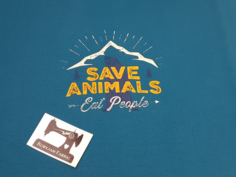 Save Animals, Eat People - TEAL - Panels On Demand