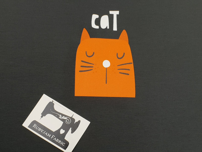Orange Cat + Cat Butt (Two Panel Set) - CHARCOAL - Panels On Demand