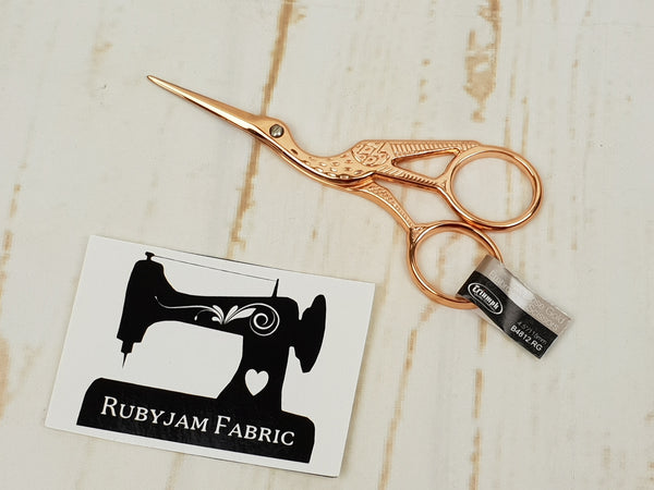 Triumph Rose Gold Stork Embroidery Scissors