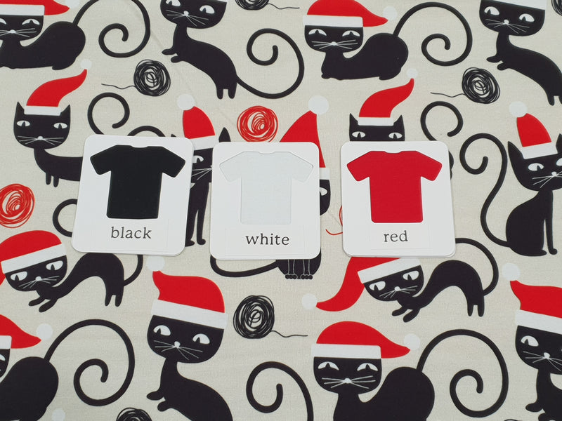Christmas Cats - cotton lycra - 150cm wide - clearance