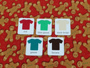 Christmas Gingerbread - cotton lycra - 150cm wide - clearance