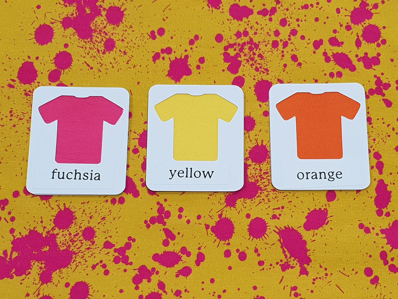 Yellow Pink Paint Splatter - cotton lycra - 150cm wide