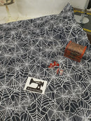 Spider Webs - cotton lycra - 150cm wide
