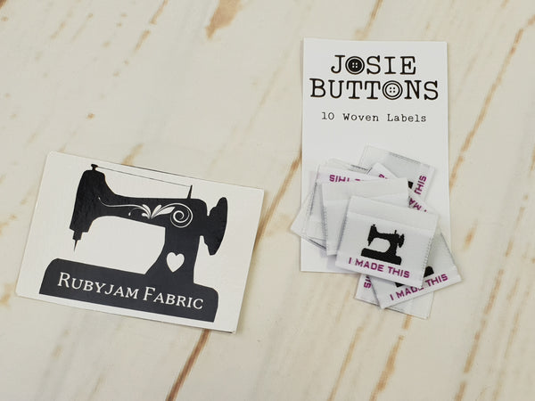 I made this (sewing machine) - Labels by Josie Buttons