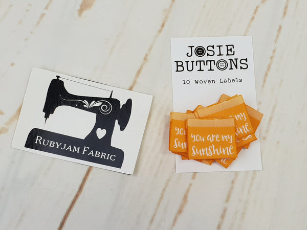 You Are My Sunshine - Labels by Josie Buttons
