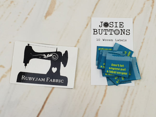 Don't Let Anyone Put a Label on You - Green - Labels by Josie Buttons