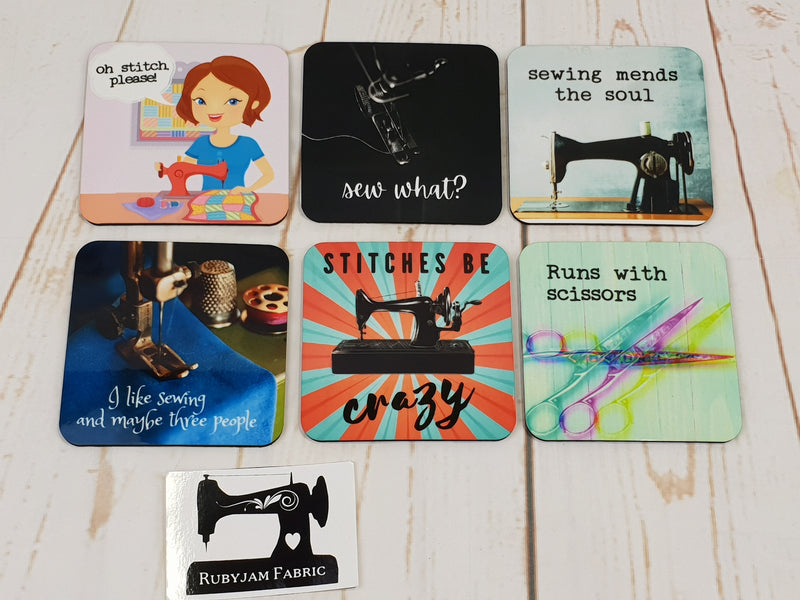 Stitches Be Crazy - Drink Coasters - Bespoke