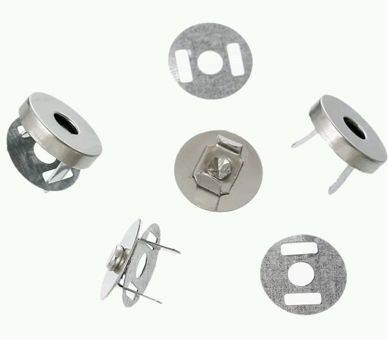 Magnetic Clasp, Silver, 14mm - set of 4