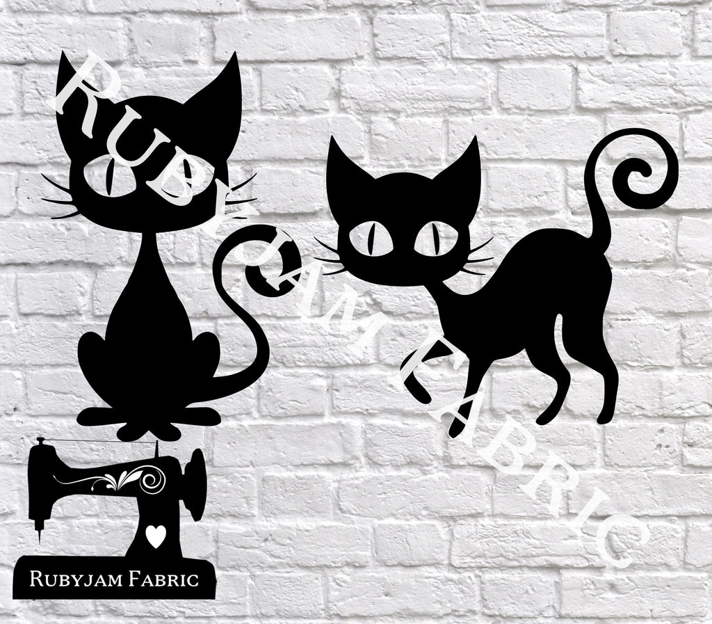 Halloween Black Cats - Cutting File - SVG/JPG/PNG