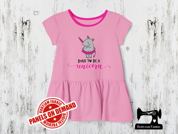 Born to be a Unicorn - LIGHT PINK - Panels On Demand