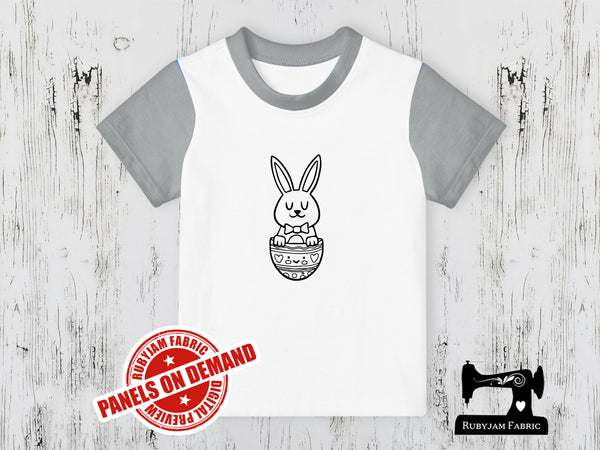 Easter Bunny Bow Tie - COLOURING IN - WHITE - Panels On Demand