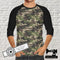 Camouflage Green Brown Army - cotton lycra - 150cm wide