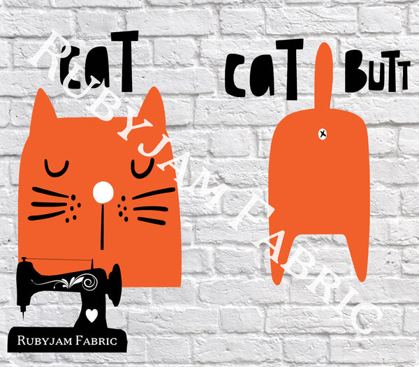 Cat / Cat Butt - Cutting File - SVG/JPG/PNG
