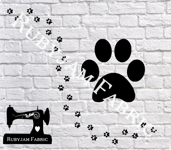 Cat Paw Prints - Cutting File - SVG/JPG/PNG