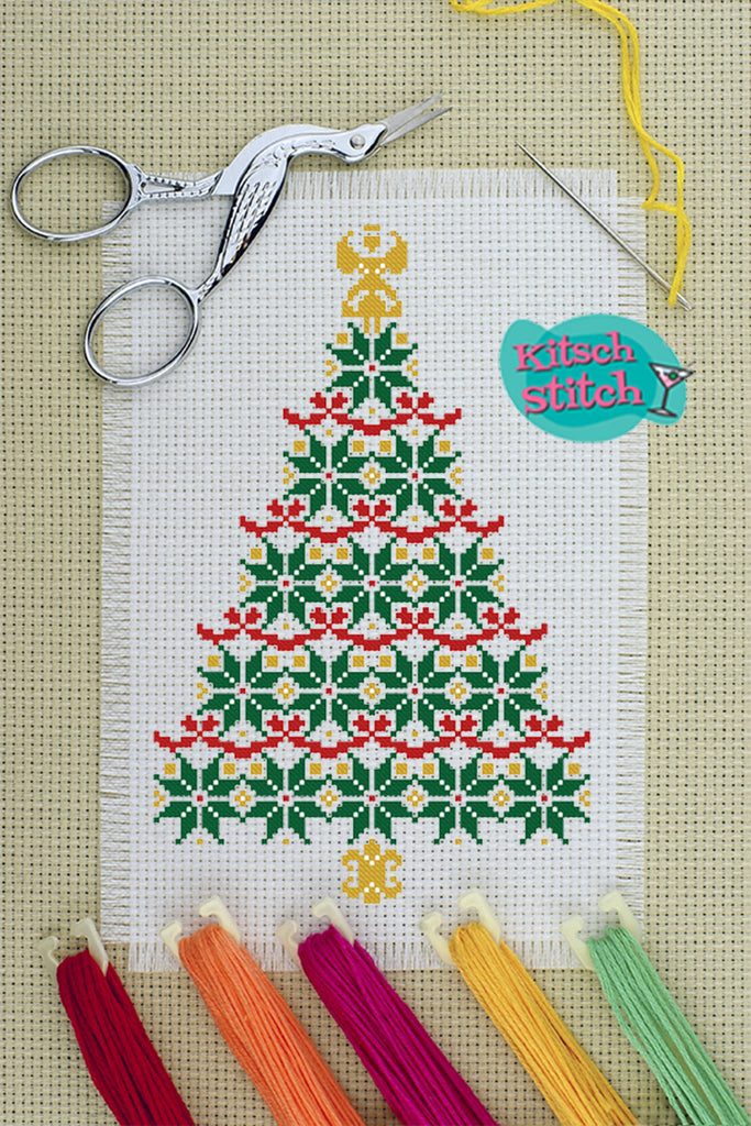 Christmas Tree - Cross Stitch Pattern - Kitsch Stitch Studio