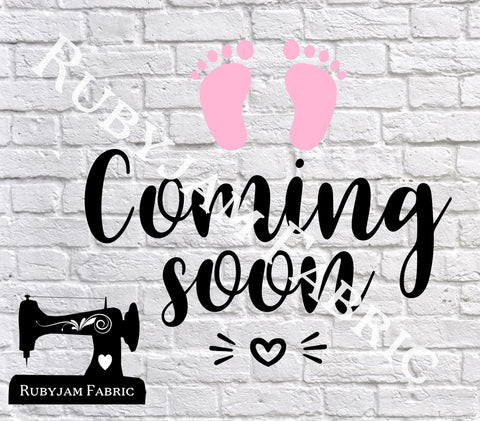 Baby Coming Soon - Cutting File - SVG/JPG/PNG