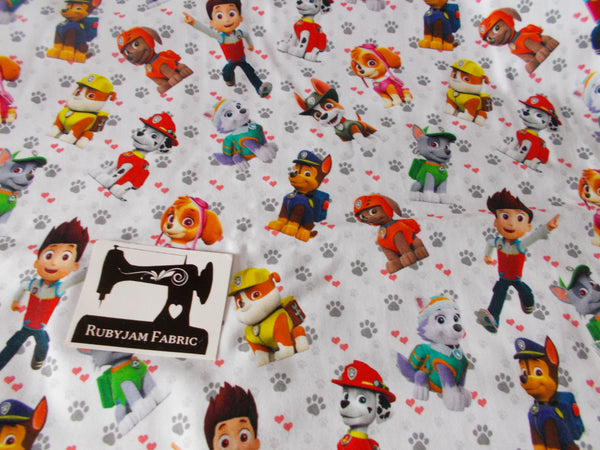 Paw Patrol Cotton Lycra - 150cm wide
