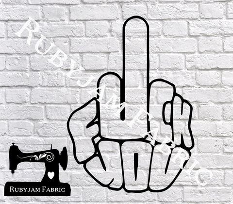 F*ck You Middle Finger - Cutting File - SVG/JPG/PNG