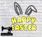 Happy Easter Bunny Ears - Cutting File - SVG/JPG/PNG