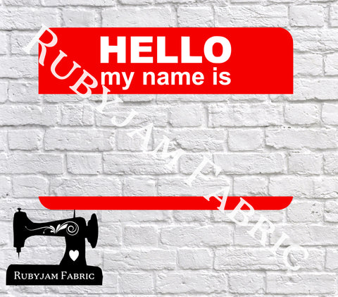 Hello My Name Is - Cutting File - SVG/JPG/PNG
