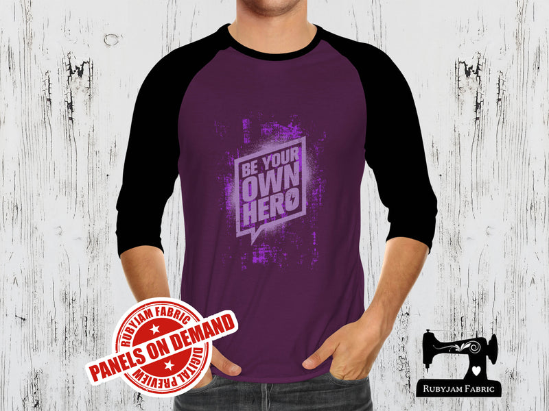 Be Your Own Hero - PURPLE - Panels On Demand