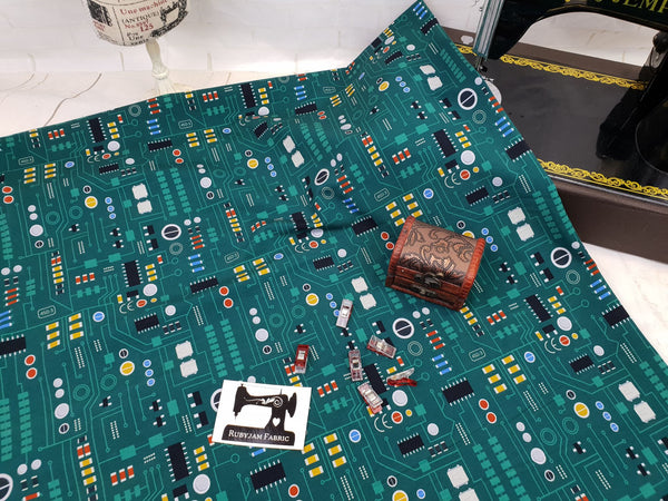 Circuit Board - cotton lycra - 150cm wide