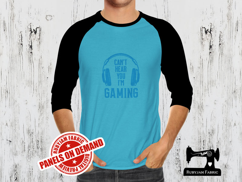 Can't Hear You I'm Gaming - LIGHT BLUE - Panels On Demand