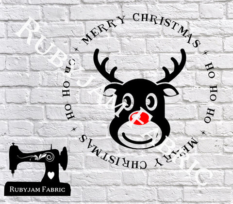 Merry Christmas Reindeer - Cutting File - SVG/JPG/PNG