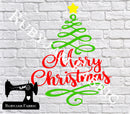 Merry Christmas Tree - Cutting File - SVG/JPG/PNG