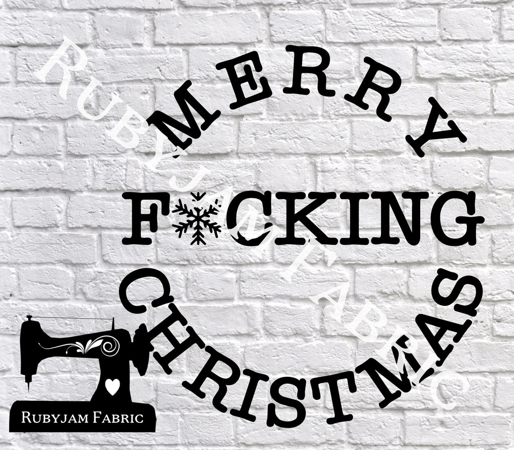Merry F*cking Christmas - Cutting File - SVG/JPG/PNG