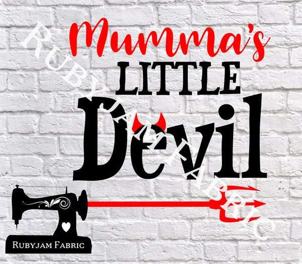 Halloween Mumma's Little Devil - Cutting File - SVG/JPG/PNG