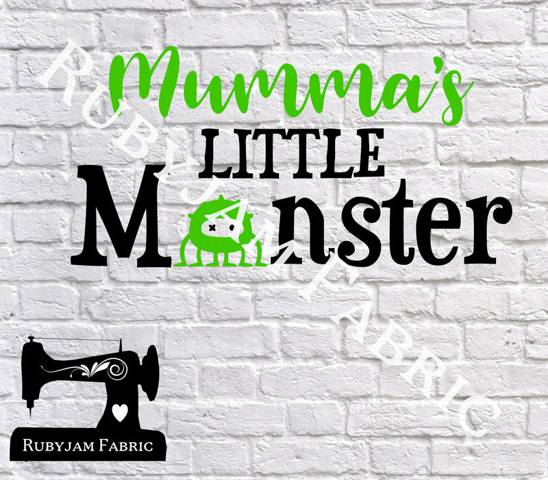 Halloween Mumma's Little Monster - Cutting File - SVG/JPG/PNG