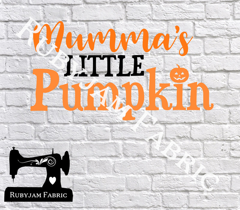 Halloween Mumma's Little Pumpkin - Cutting File - SVG/JPG/PNG