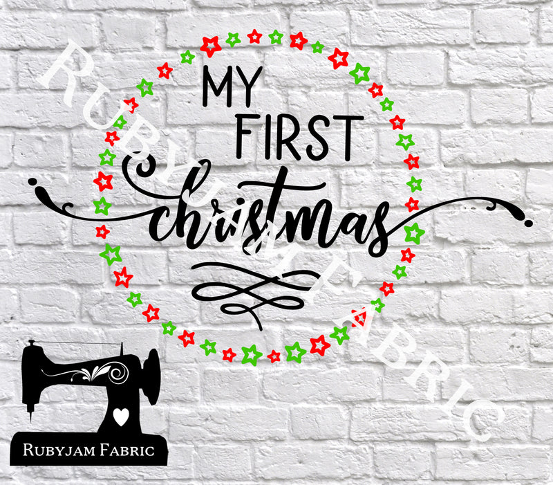 My First Christmas - Cutting File - SVG/JPG/PNG