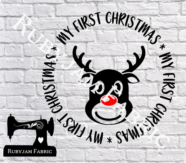 My First Christmas Reindeer - Cutting File - SVG/JPG/PNG