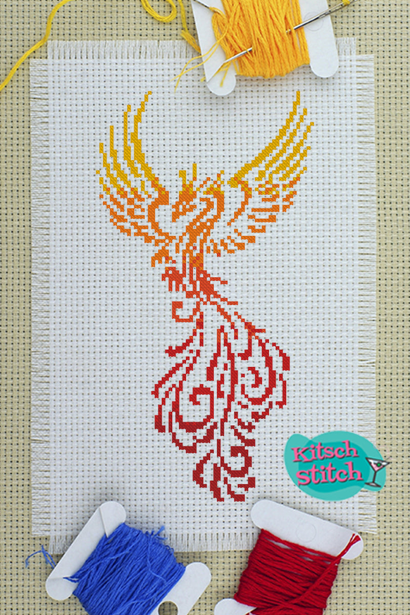 Phoenix - Cross Stitch Pattern - Kitsch Stitch Studio