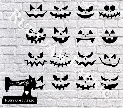 Halloween Pumpkin Faces - Cutting File - SVG/JPG/PNG