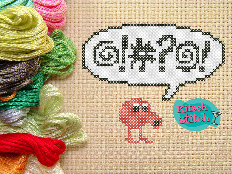 Q-Bert - Cross Stitch Pattern - Kitsch Stitch Studio