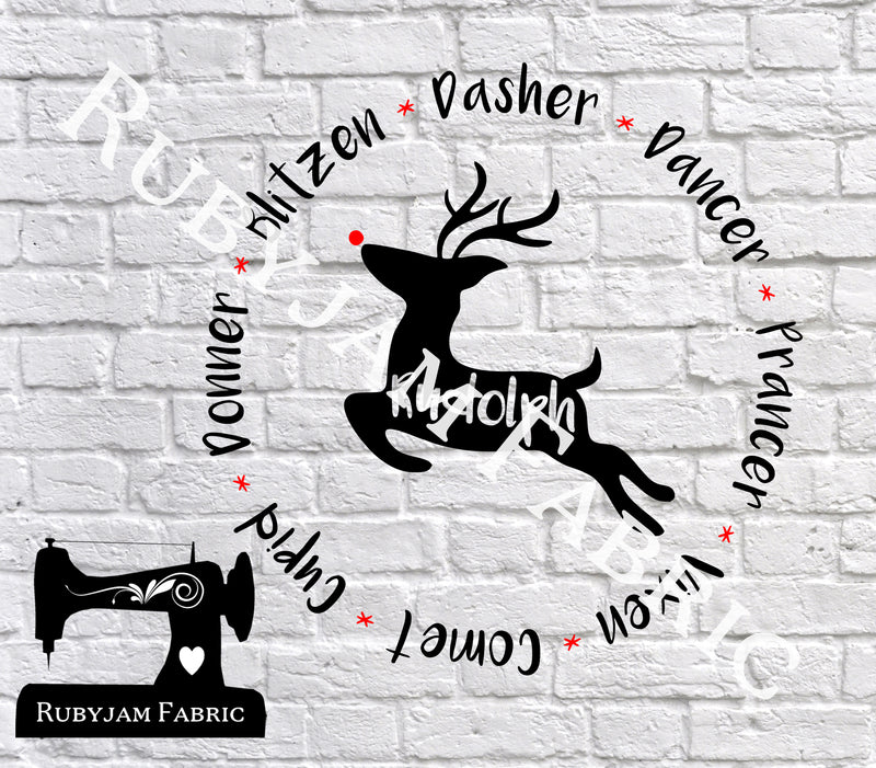 Christmas Reindeer Names - Cutting File - SVG/JPG/PNG