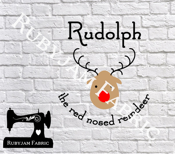 Christmas Rudolph The Red Nosed Reindeer - Cutting File - SVG/JPG/PNG