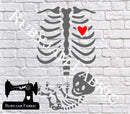 Skeleton Baby - Cutting File - SVG/JPG/PNG