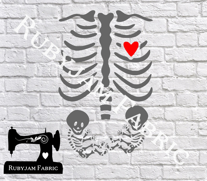 Skeleton Twins - Cutting File - SVG/JPG/PNG