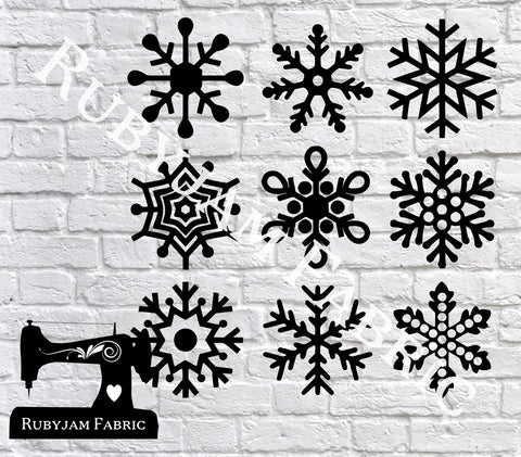 Snowflakes - Cutting File - SVG/JPG/PNG