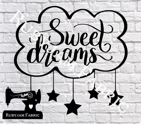Sweet Dreams - Cutting File - SVG/JPG/PNG