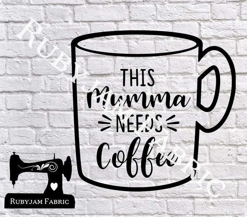 This Mumma Needs Coffee - Cutting File - SVG/JPG/PNG