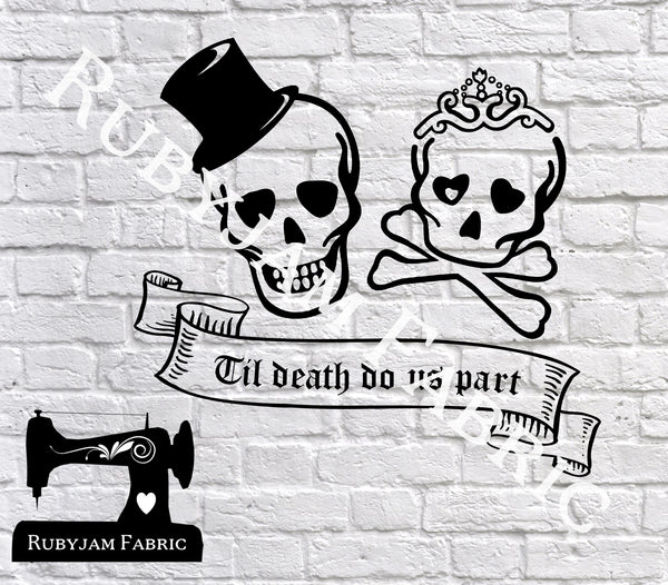Til Death Do Us Part - Cutting File - SVG/JPG/PNG