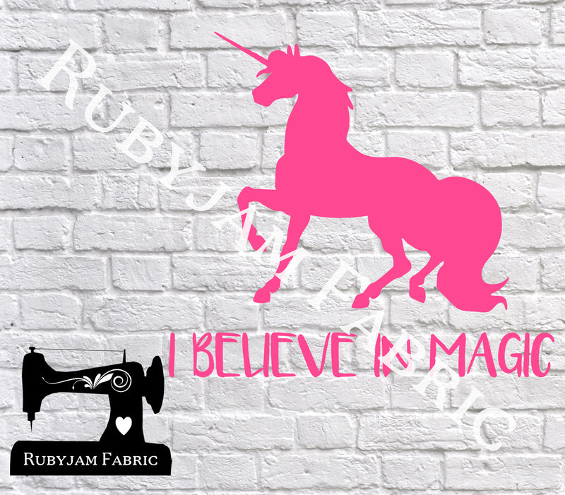 Unicorn I Believe In Magic - SVG/JPG/PNG